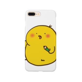 えんぴつひよこ Smartphone cases