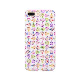 Charlieカラフル背景ホワイト Smartphone cases
