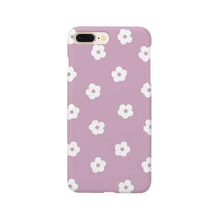 花柄/ピンク Smartphone Case