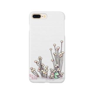 きのこと小人と時々カエル(えのき茸) Smartphone cases