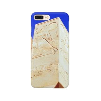 エジプト:ハトシェプスト女王葬祭殿のホルス神レリーフ Egypt: Horus at Mortuary Temple of Hatshepsut Smartphone cases