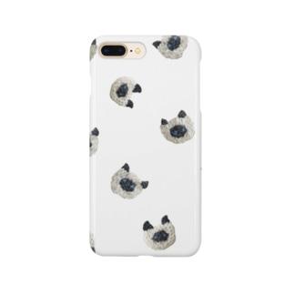 ぼんやり顔のシャム猫 Smartphone cases