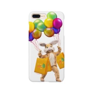 うさぎさんのお買い物 カラフル Smartphone cases