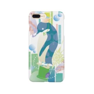 ペンギンTeaTime(ターコイズ) Smartphone cases