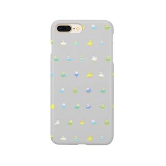 ちみまめセキセイインコちゃん【まめるりはことり】 Smartphone cases