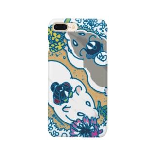 ハムスター・春の野・2匹 Smartphone cases
