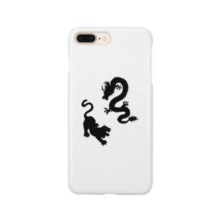 龍虎シルエット Smartphone cases