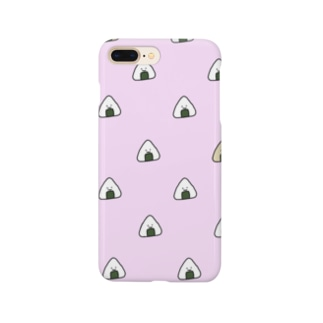 おにぎりいっぱい ピンク Smartphone cases