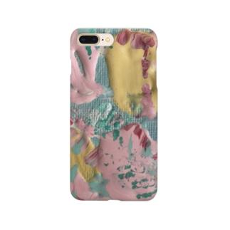 現代アート 花 Smartphone cases