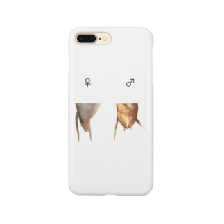 カマキリの雌雄(背景透過ver) Smartphone cases