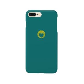 kamon 十大紋-藤紋(下り藤)青緑 (スマホケース) Smartphone cases