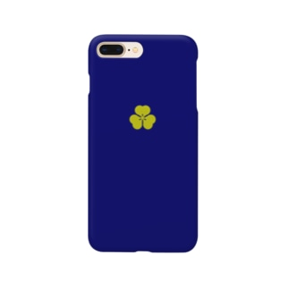 kamon 十大紋-片喰紋 (片喰) DBL (スマホケース) Smartphone cases