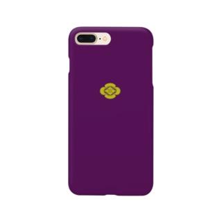 kamon 十大紋-木瓜紋 (木瓜)PU (スマホケース) Smartphone cases