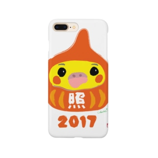福だるま型 オカメインコ ノーマル Smartphone cases