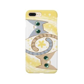 ゆるい系の猫-ゆず色- Smartphone cases