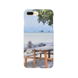 ミクロネシア:リーフが見える浜辺の風景 Micronesia: seaside of Pohnpei Smartphone cases