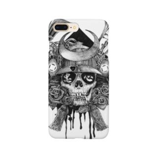 骷髏武士スマホケース Smartphone cases