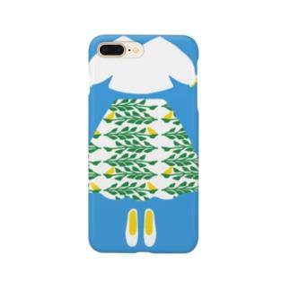 小鳥スカート Smartphone cases