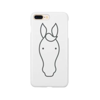 うまアイコン Smartphone cases