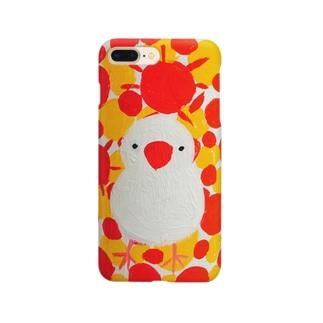 文鳥一家のムク姫 Smartphone cases