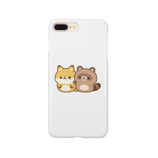 DECORのゆるたぬき ぽよぽよver. Smartphone cases