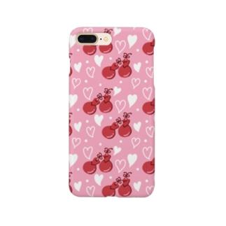 カスタネットパターン タイプB Smartphone cases