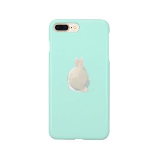 usagi no ochiriスマホケース(エメラルドグリーン) Smartphone cases