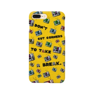 Don't cut corners to take a break.yellow  Smartphone cases
