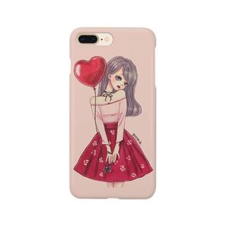 赤い風船と女の子 Smartphone cases