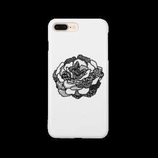 erkのラクガキのバラ Smartphone cases
