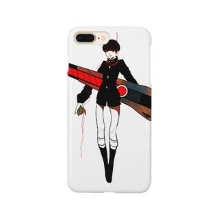 赤い糸は切ってしまおう しろ Smartphone cases
