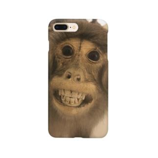 台湾で見ためちゃくちゃ怖い猿の剥製 Smartphone cases