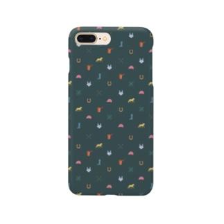 ウマグラム(モスグリーン) Smartphone cases