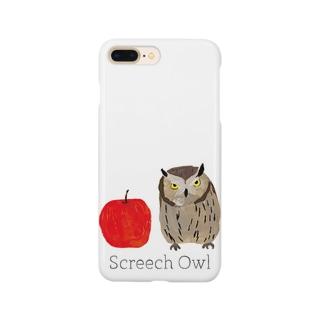 フクロウとリンゴ Smartphone cases