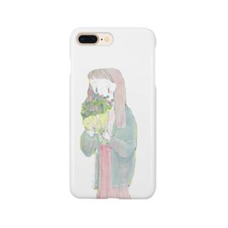 花束と女の子 Smartphone Case