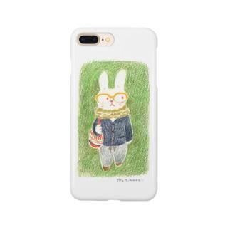 めがねのうさぎ Smartphone cases