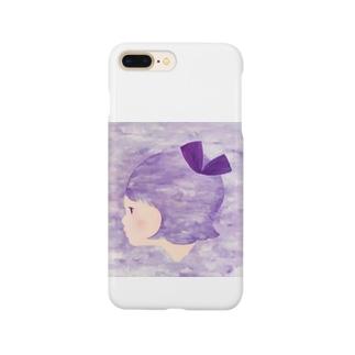 むらさきリボンちゃん Smartphone cases