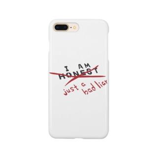 正直じゃない、嘘が下手なだけ。Not Honest, just a Bad Liar Smartphone cases