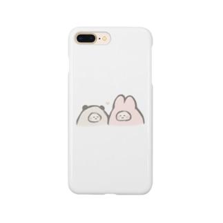 仲良しぱんだとうさぎ Smartphone cases