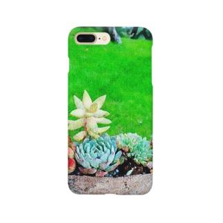草原と多肉たち Smartphone cases