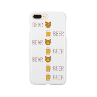 ビールデザインTシャツ「ベアビアベアビアベアビアビア」 Smartphone cases