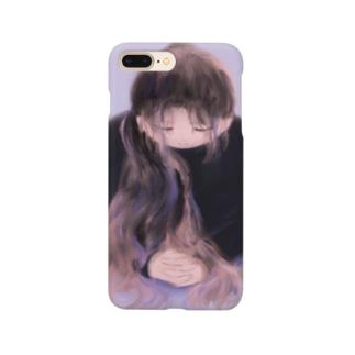 ストレッチする人の絵 Smartphone cases