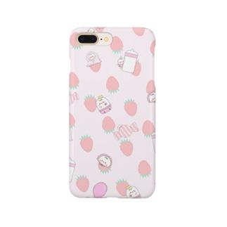 苺柄babyちゅんすけ Smartphone cases