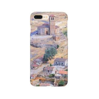 スペイン:セゴビア郊外の村の風景 Spain: view of a village near around Segovia Smartphone cases