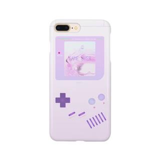 GAME OVER #Purple スマートフォンケース