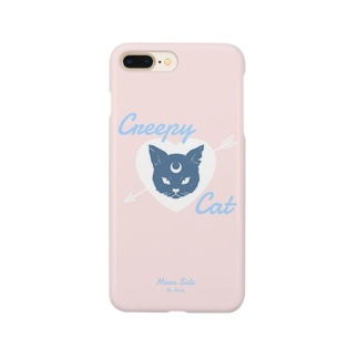IENITY / MOON SIDEの【MOON SIDE】 Creepy Cat #Pink*Blue Smartphone cases
