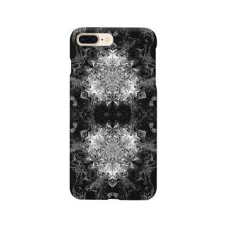 波模様/白黒02 Smartphone cases