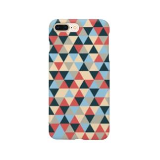 三角パターン Smartphone cases
