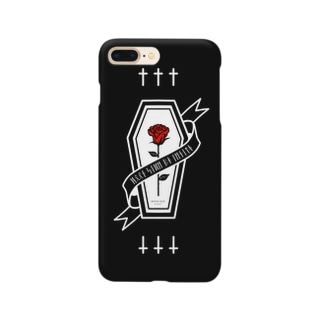 【MOON SIDE】Rose Coffin Ver.2 #Black Red Smartphone cases