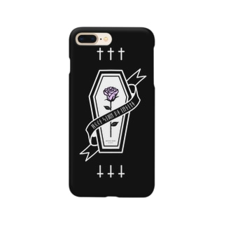 【MOON SIDE】Rose Coffin Ver.2 #Black Purple スマートフォンケース